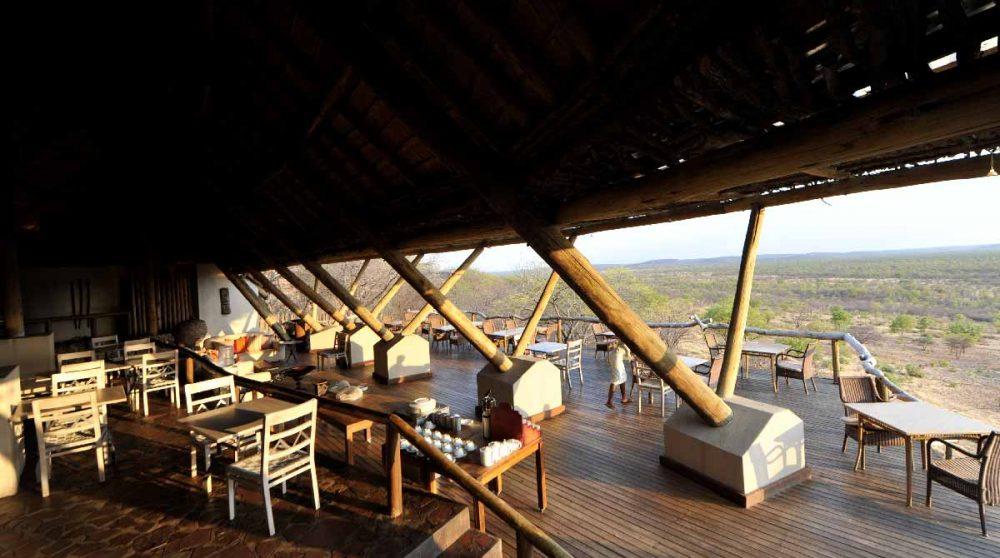 La vue depuis l'Ongava Lodge