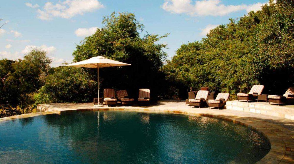 La piscine du Phinda Forest Lodge