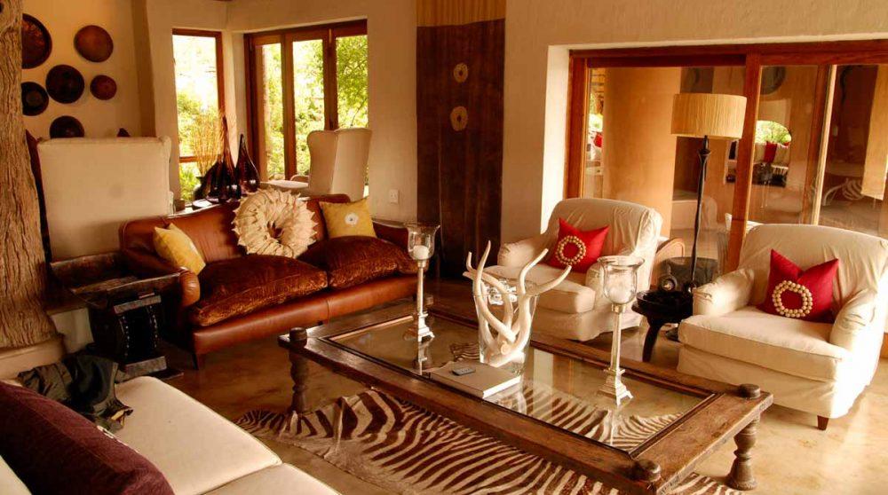 Salon de l'hôtel Royal Madikwe
