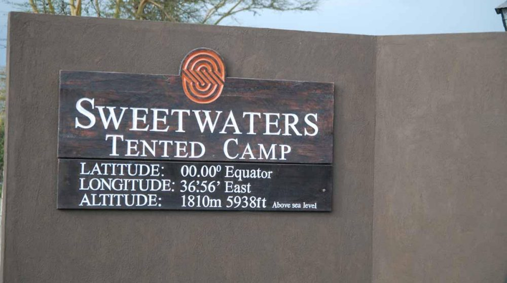 Bienvenue au Sweetwaters Tented Camp
