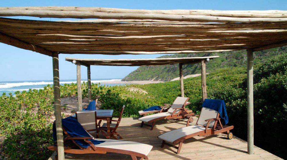 La plage au Thonga Beach Lodge