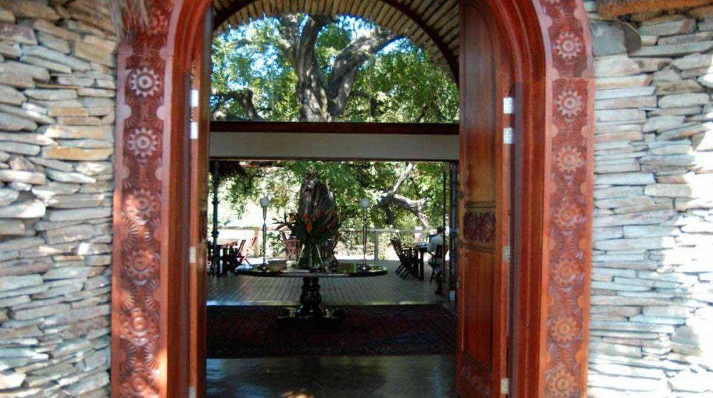 L'entrée du Tintswalo Safari Lodge