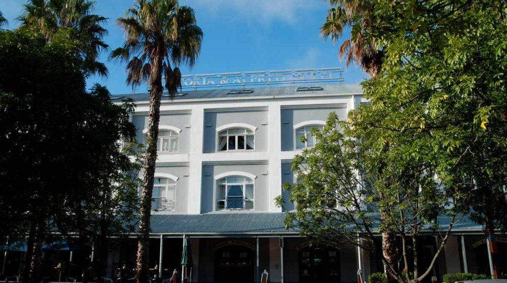 Façade de l'hôtel Victoria and Alfred Hotel au Cap en Afrique du Sud