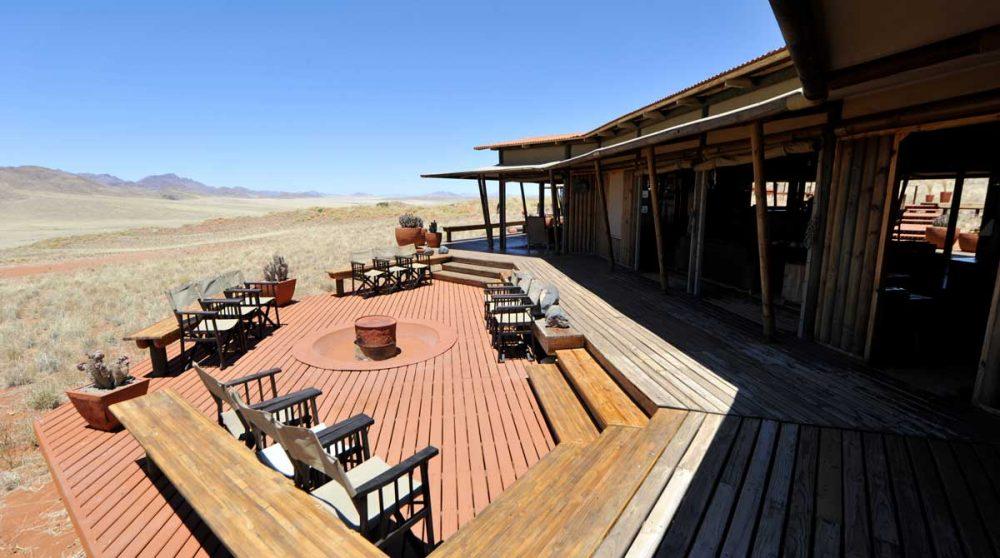 La terrasse au soleil en Namibie