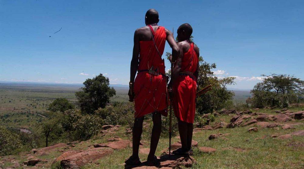 Des masaï au Kenya