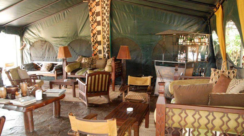Autre vue du salon au Kenya