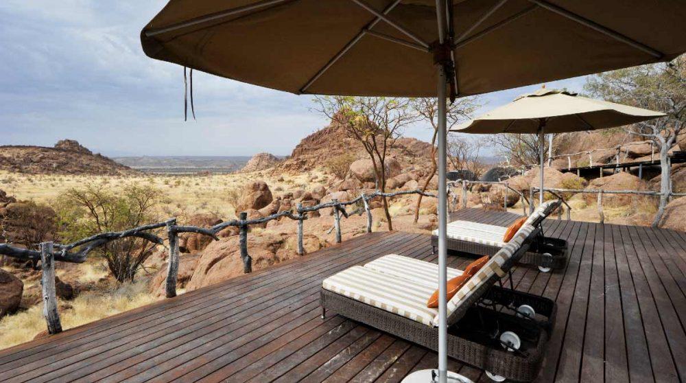 La terrasse en Namibie