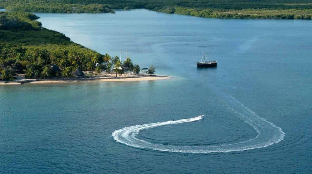 L'île de Lamu dans l'océan Indien au Kenya