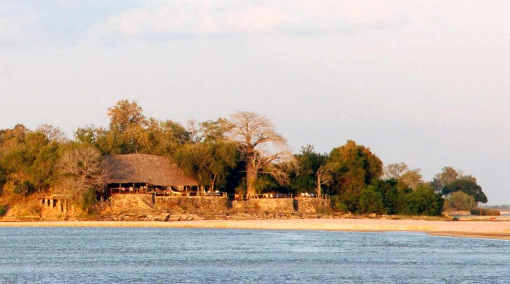 Vue du lodge dans la réserve de Selous