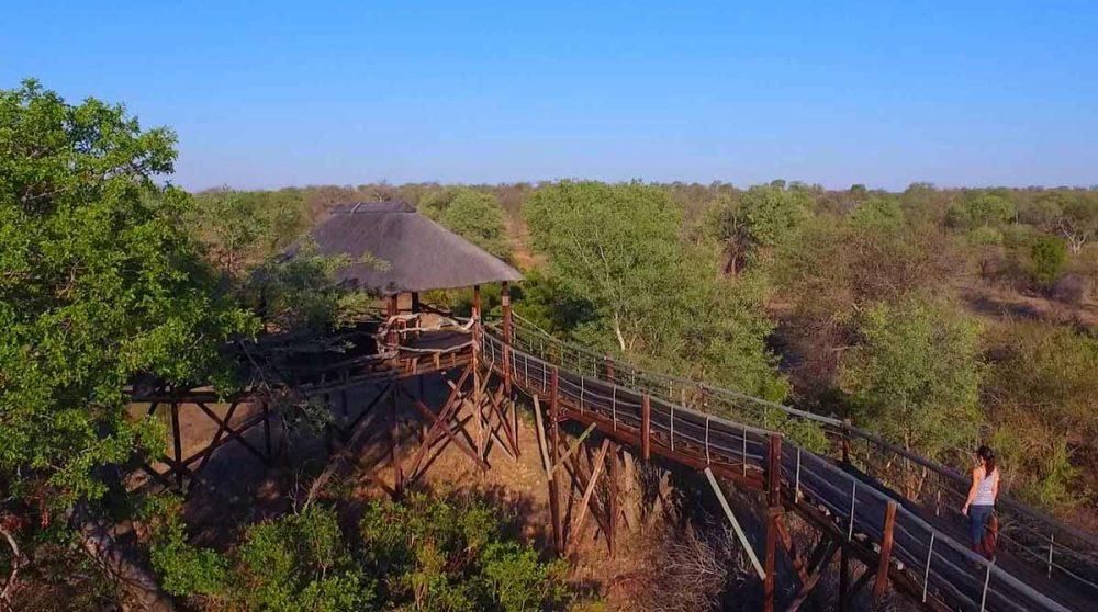 La terrasse d'observation en Afrique du Sud