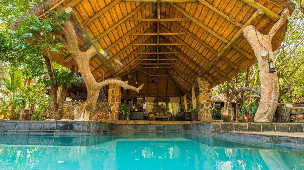 La piscine et le salon en Afrique du Sud