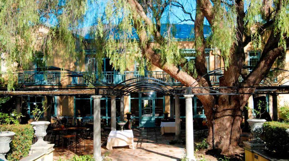 Vue sur le jardin en Afrique du Sud