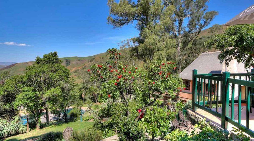 Le jardin dans le Drakensberg