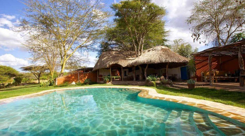 La piscine du camp à Lewa