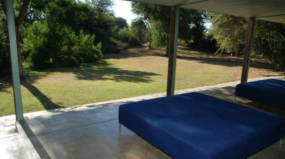Banquettes sur la terrasse en Afrique du Sud