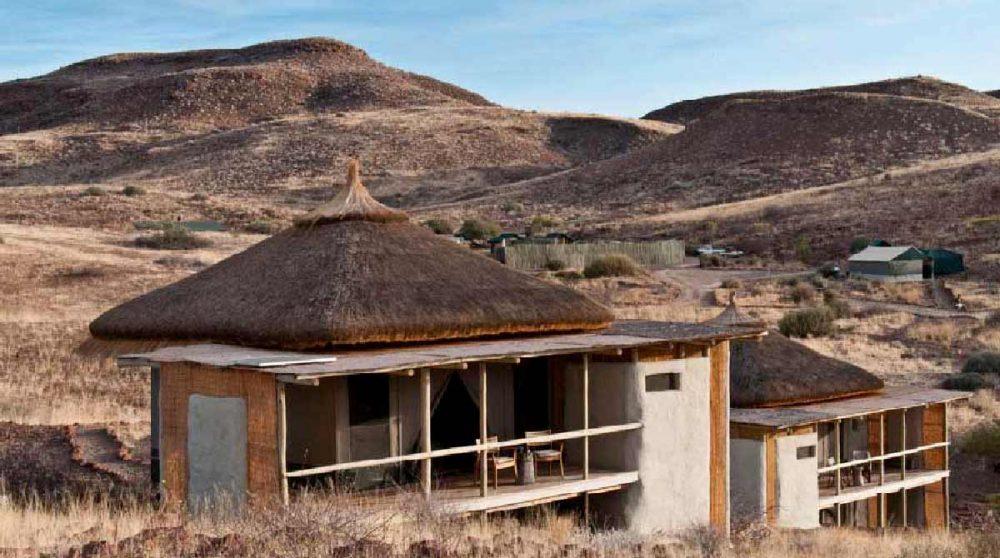 Le camp dans la nature en Namibie