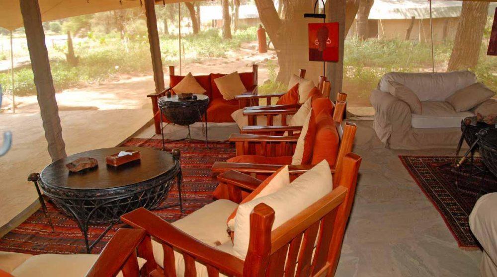 Un salon au Kenya