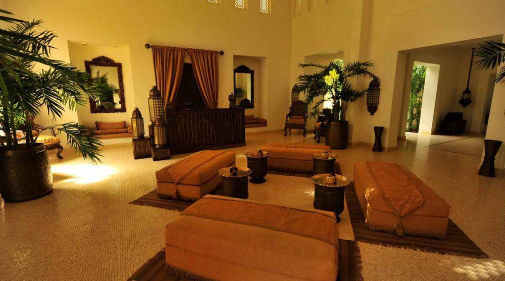 L'entrée de l'hôtel à Zanzibar