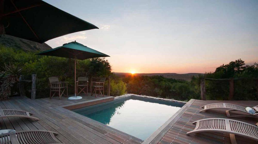 La terrasse au coucher du soleil