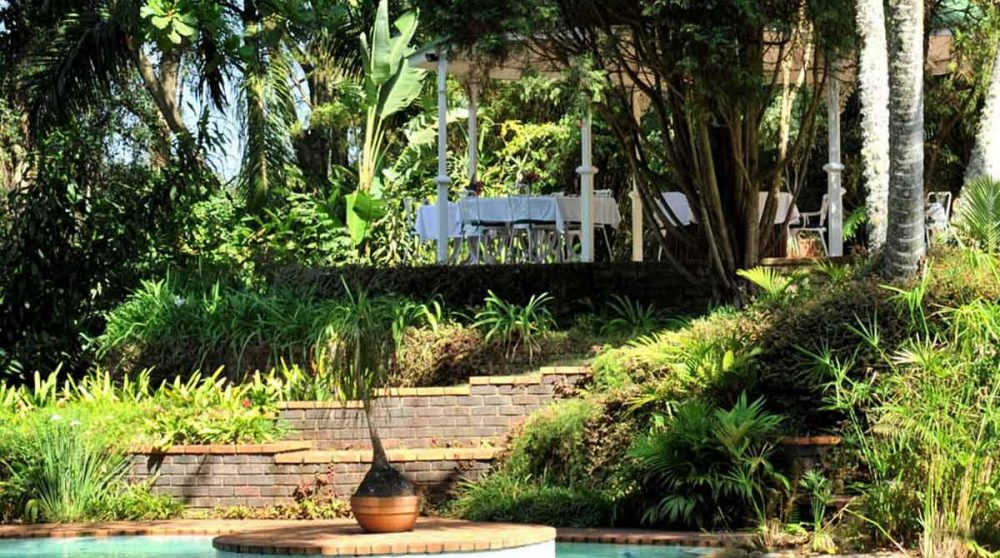 La bassin sous la terrasse