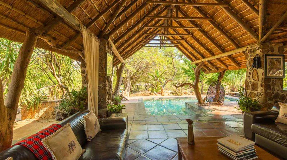 Vue du salon près du parc Kruger