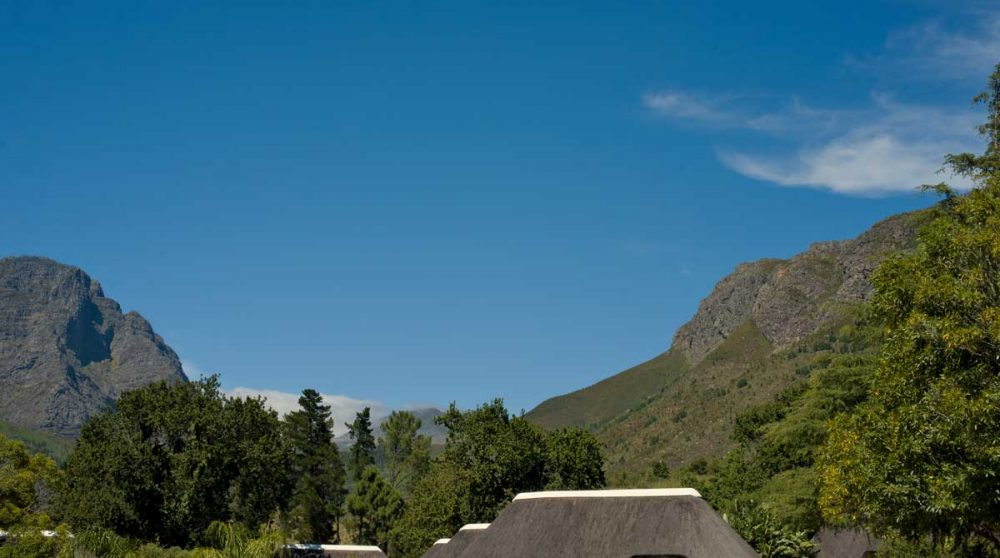 Les montagnes vues depuis l'hôtel