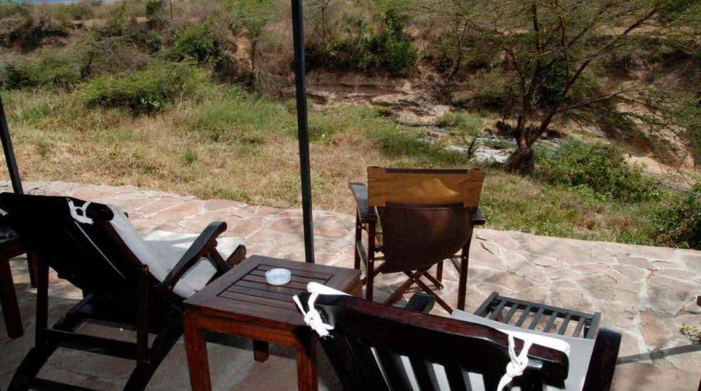 La vue depuis la terrasse dans le Masai Mara