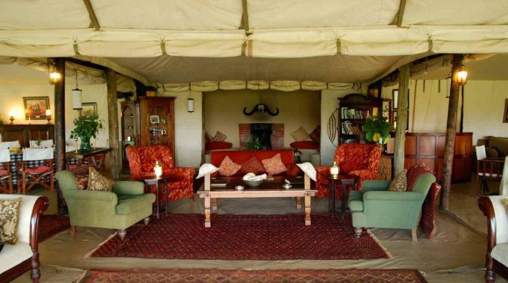 Autre vue du salon au Masai Mara