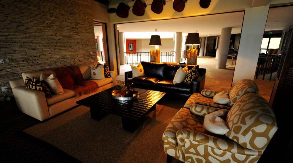 Le salon dans le Serengeti