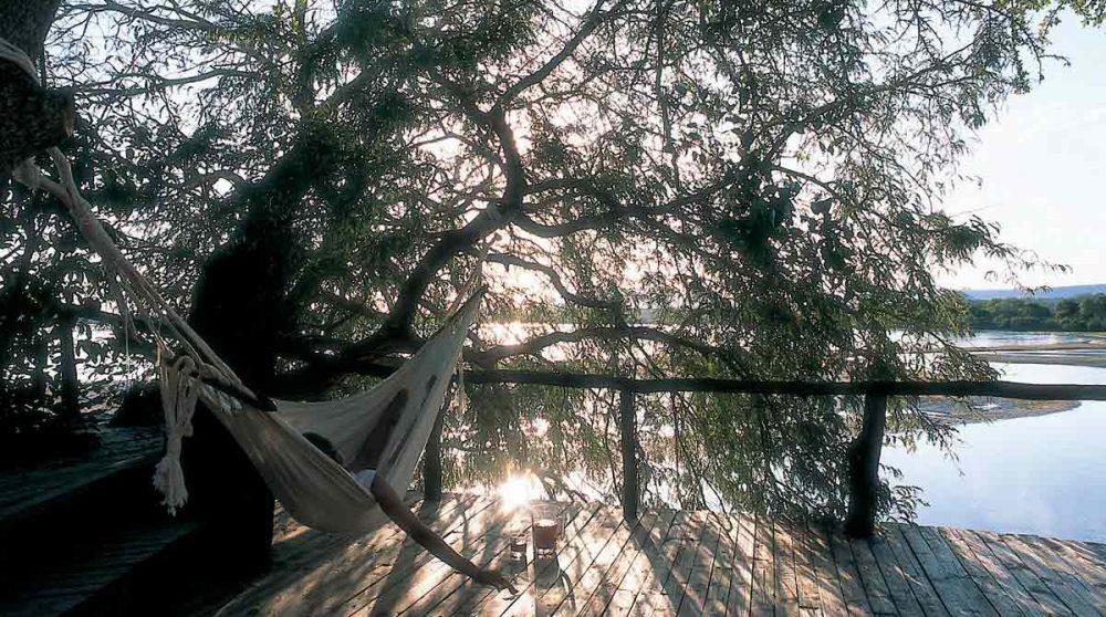 Un hamac sous un arbre en Tanzanie
