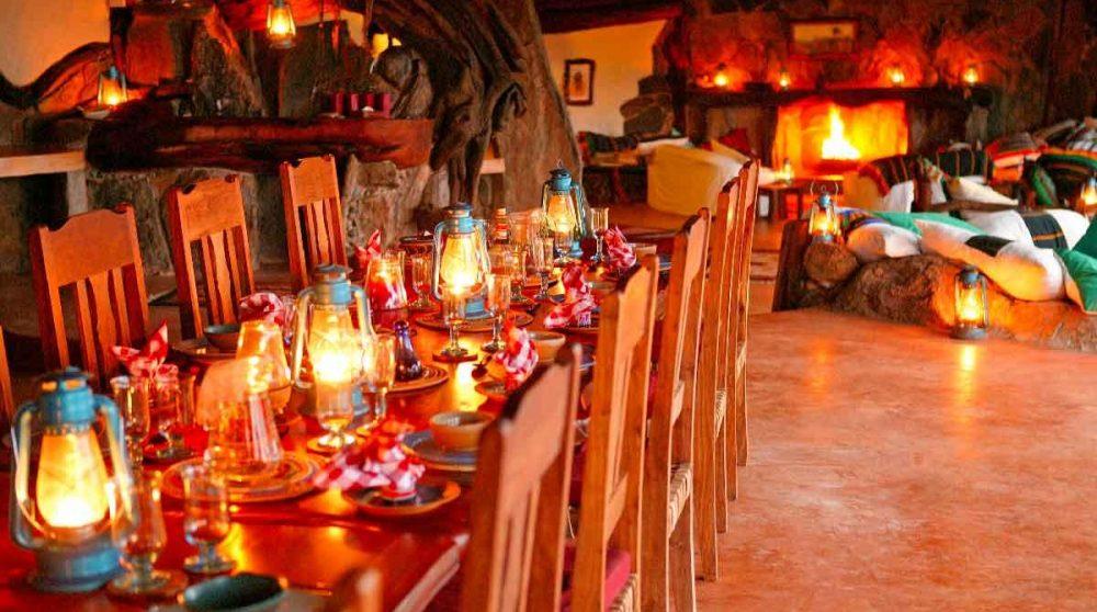 La salle à manger à Laikipia