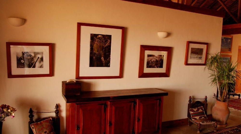 La décoration du lodge au Kenya