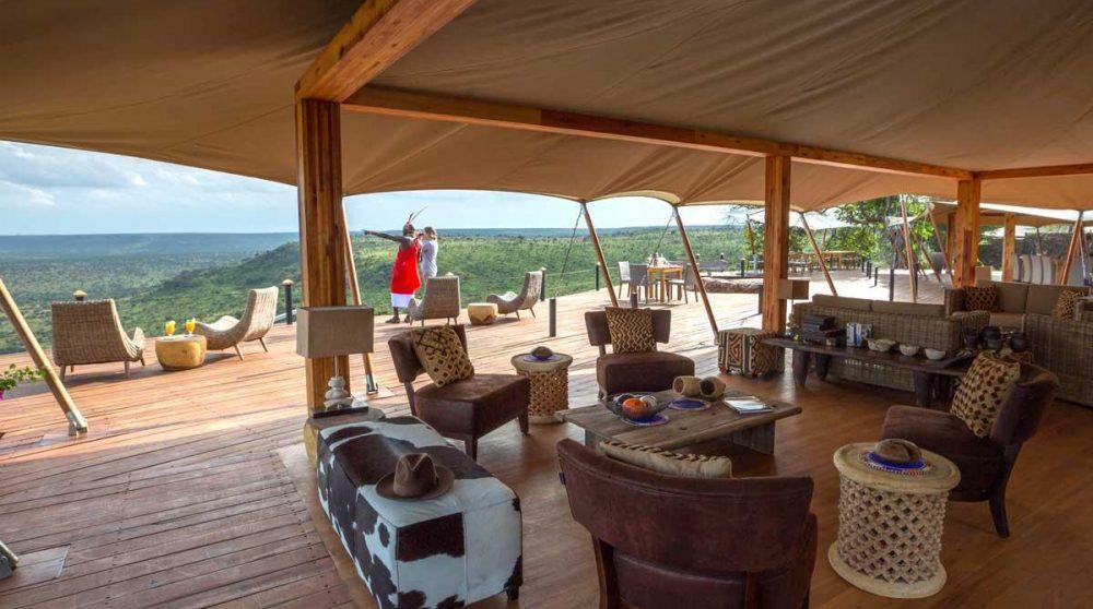 Le salon du Loisaba Tented Camp
