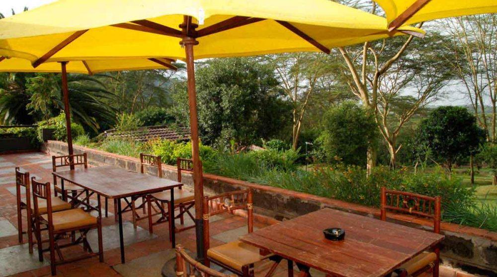 La terrasse au Lac Nakuru