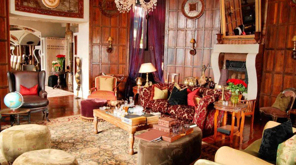 Le salon de l'hôtel au Ngorongoro
