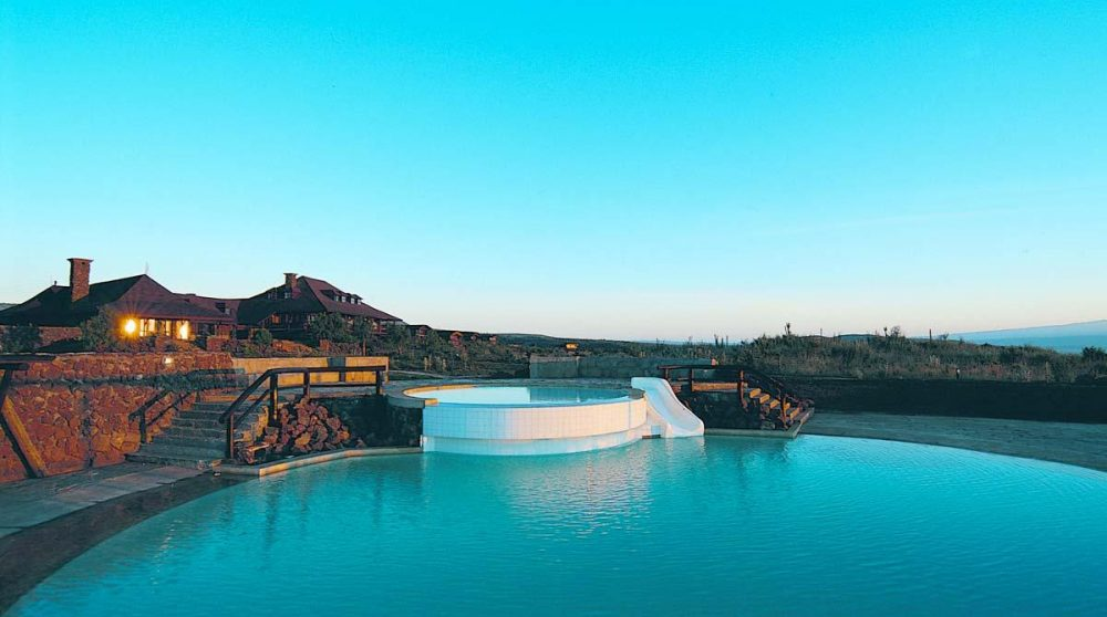 La piscine du lodge au Lac Naivasha