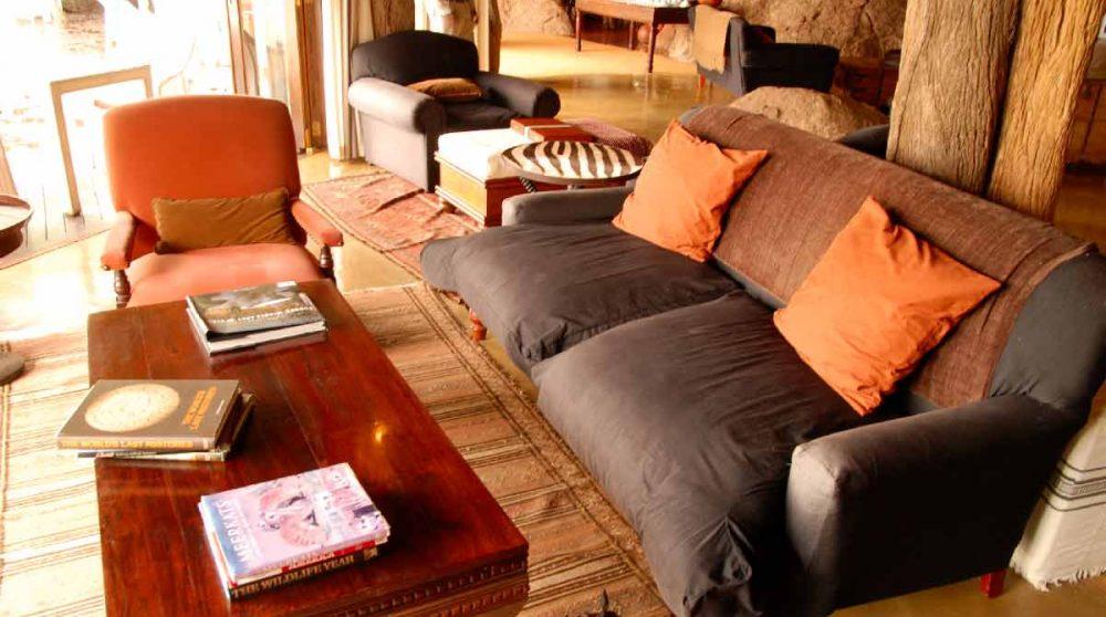 Un salon de l'hôtel à Madikwe