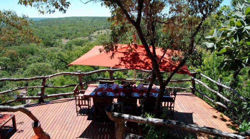 Table pour déjeuner en Afrique du Sud