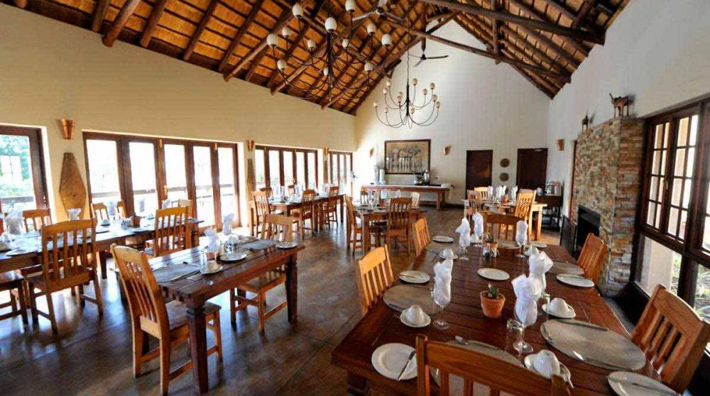 Le restaurant à Sabi Sand