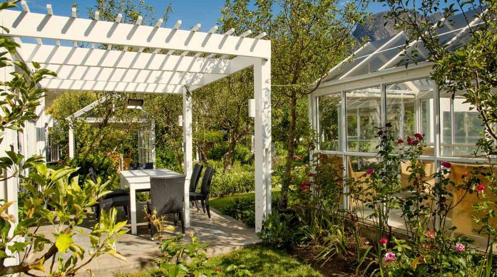 Le jardin à Franschooek