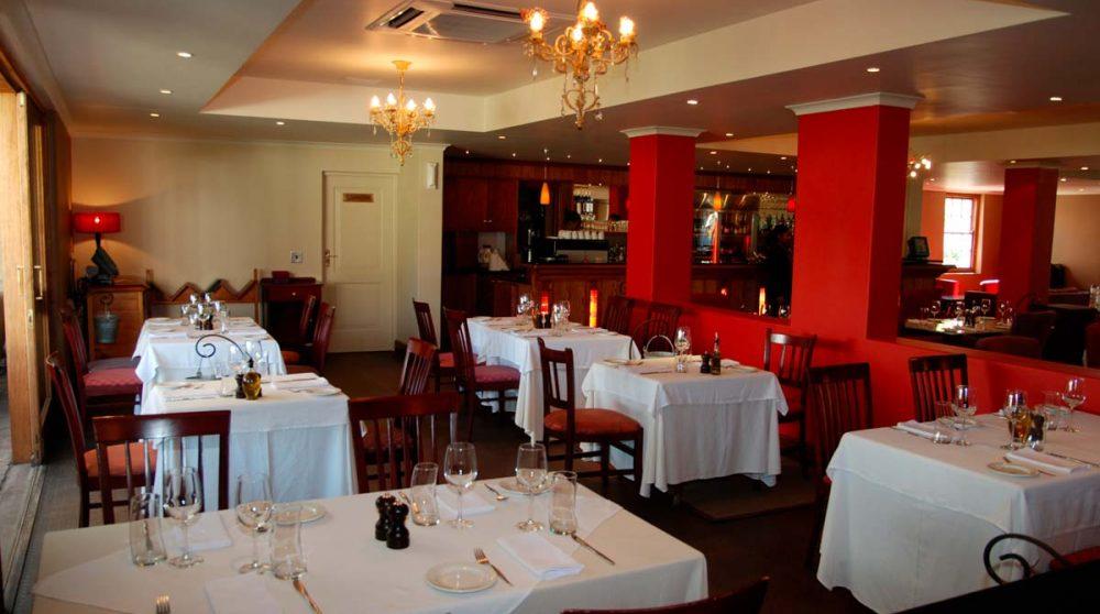 Le restaurant à Franschhoek