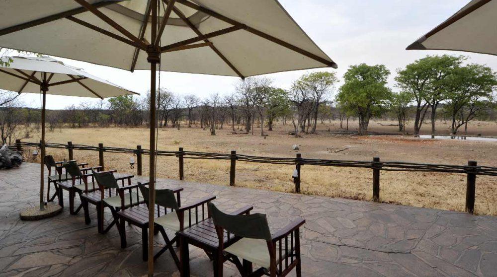 La terrasse du camp en Namibie