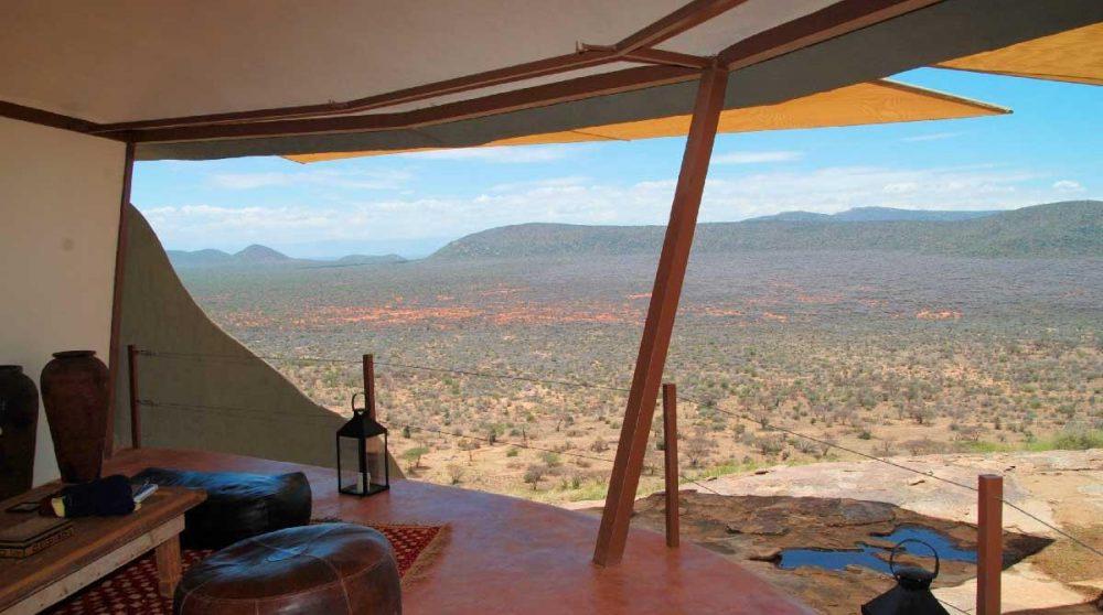 Vue depuis un salon à Samburu