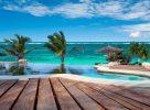 La piscine donnant sur la plage à Mombasa