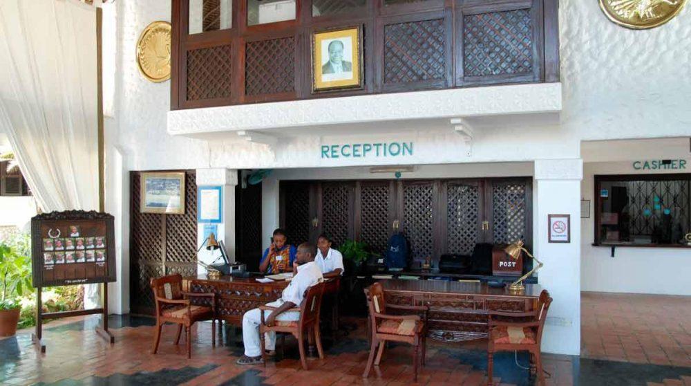 La réception à Mombasa