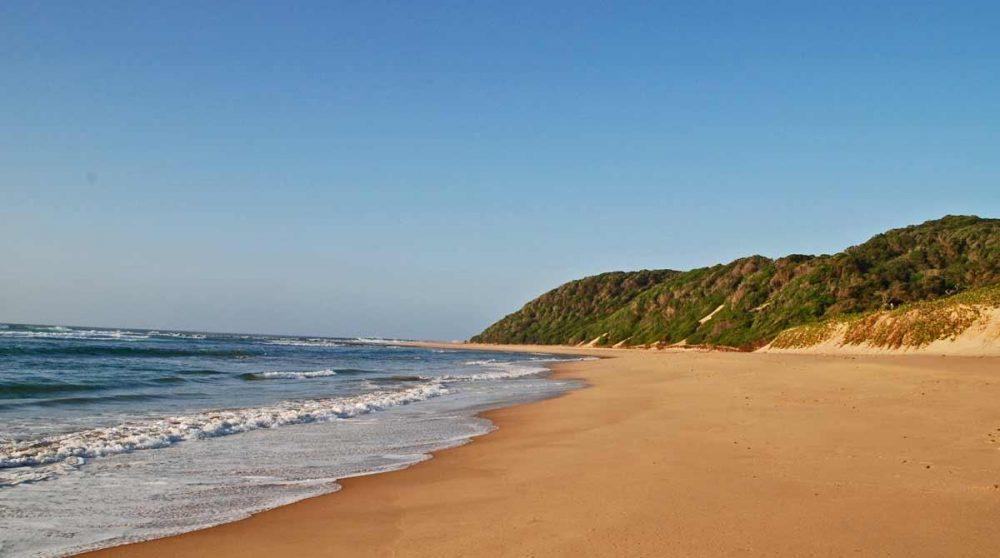 Une plage sans fin du Kwazulu Natal