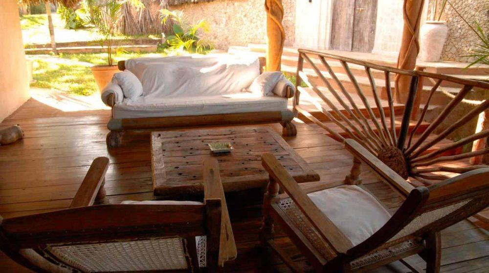 Espace détente à l'Alfajiri Beach Villa