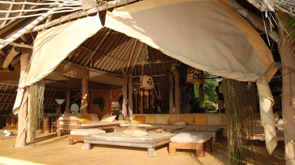 La vue du salon de l'Alfajiri Garden Villa