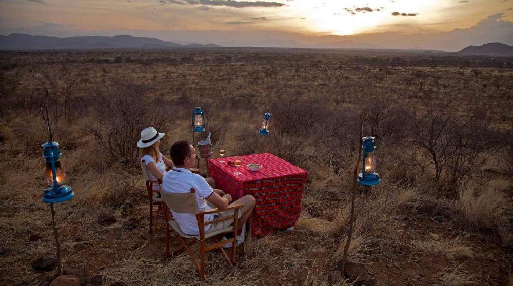 Coucher de soleil au Ashnil Samburu
