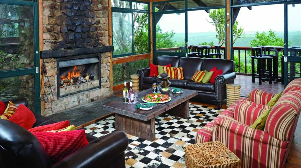 Le salon du Kariega Main Lodge
